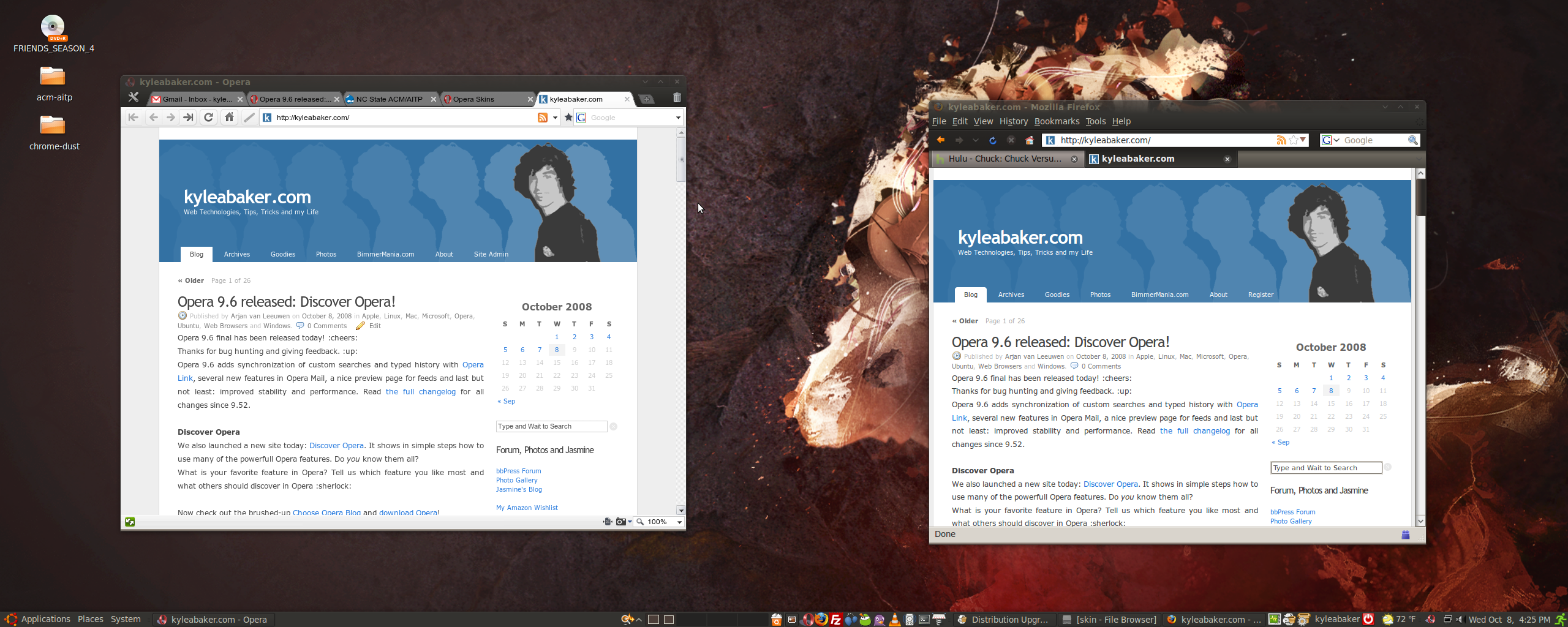 An Opera Skin to Match the Ubuntu Dust Theme