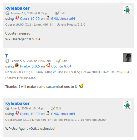 WordPress Plugin WP-UserAgent 0.8