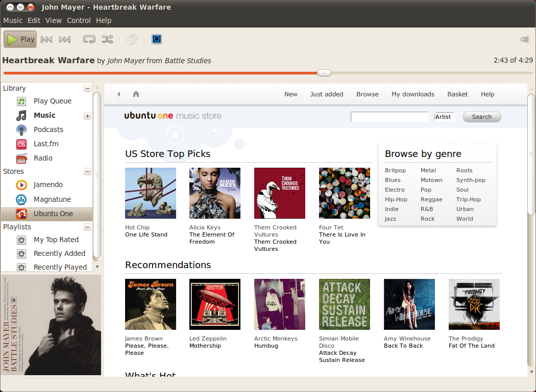Ubuntu 10.04, now with a Music Store!
