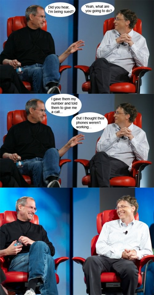 Talks between Steve Jobs & Bill Gates