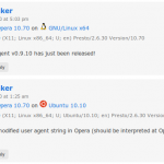 Before and after Opera user agent string.