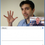 Video chat in action (Source)