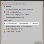 Banshee Media Player Usage Statistics